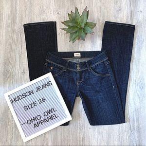 EUC Hudson Beth Midrise Baby Bootcut Denim Jeans